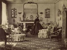 What Victorian living rooms and parlors look like...