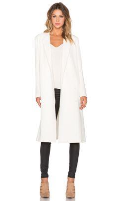 TY-LR Classic Coat in Cream | REVOLVE