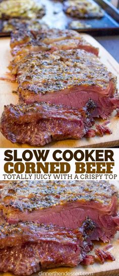 Beef Brisket Crock Pot, Slow Cooker Beef, Slow Cooker Recipes, Crockpot Recipes, Pork Ribs, Dinner Crockpot, Cooking Corned Beef, Corned Beef Crockpot, Best Corned Beef Recipe