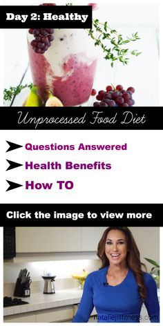 What is an unprocessed food diet and how can it help me lose weight? Click the image above to learn more! Make sure to repin and share with others so they can join the challenge with you! And don't forget to get 10 free recipes here at http://nataliejillfitness.com/10free