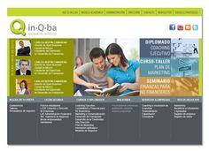 Desarrollo de sitio web para inQba Escuela de Negocios en Puebla, México