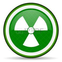 radiation green icon atom sign photo