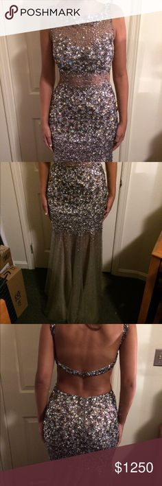 Jovani Gorgeous Sparkly REAL JEWEL Prom Dress Only worn once, PERFECT CONDITION. Comment any questions. Jovani Dresses Prom