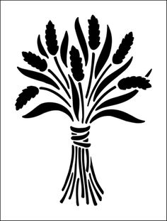 Sheaf stencil from The Stencil Library BUDGET STENCILS range. Buy stencils online. Stencil code MS100.