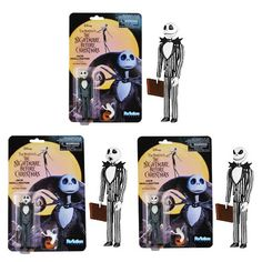 Nightmare Before Christmas Jack ReAction 3 3/4-Inch Figure - Funko - Nightmare Before Christmas - Action Figures at Entertainment Earth