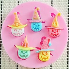 Halloween Pumpkin Fondant Cake Chocolate Resin Clay Candy Silicone Mold, L8cm*W8cm*H1cm – CAD $ 5.55