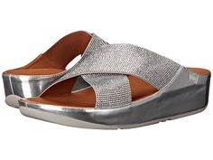 FitFlop Crystall Slide Silver - Zappos.com Free Shipping BOTH Ways