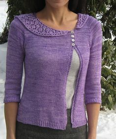 Iolanthe my Mary Annarella.    Just enough accent against plain knitting. Asymmetry is perfect.