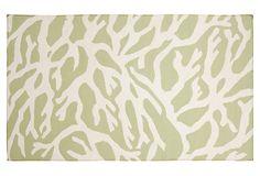 Coral Flat-Weave Rug, Lettuce on OneKingsLane.com