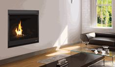 Ask a Fireplace Specialist: It is easy to see that no compromise was made either in quality or design in this series of direct vent fireplaces. Tailoring options are offered for not only the aesthetic elements, such as the reflective crushed glass media, but also for the practical usage features, like the dedicated flue configuration and capability of operation after a power outage. The black painted interior spotlights the flames while the durable textured powder coat finish completes the…