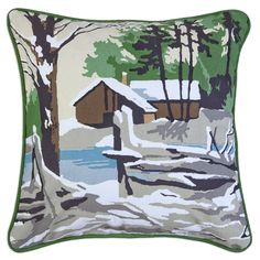 Winter Day Canvas Accent Pillow