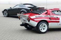Stratos with new Ferrari incarnated Stratos remake Lancia Delta, Ferrari F430, Maserati, Auto Motor Sport, Motor Car, Fiat Sport, Super Images, Rally Car, Car Show