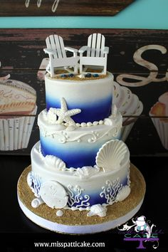 The perfect cake for any beach wedding by Miss Patti Cake