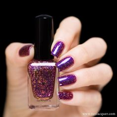 F.U.N Lacquer -  LE Christmas 2015 Collection - CHEERS TO THE HOLIDAYS HOLOGRAM