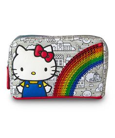 Look at this Hello Kitty Hello Kitty Gray Rainbow Sequins Cosmetic Bag on #zulily today!