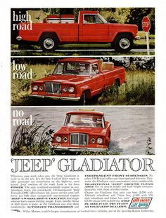 1963 #Jeep Gladiator pickup truck advertisement  This is what we came to Laramie in when I was just 2.  <3