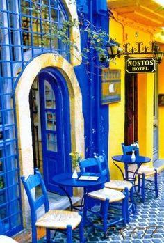 Colours of Chania, Crete island , Greece Mykonos, Santorini Grecia, Beautiful World, Beautiful Places, Sidewalk Cafe, Greece Travel, Greek Islands, Oh The Places You'll Go, Dream Vacations