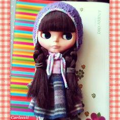 Carleesi - crocheted hat for Blythe doll
