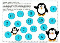 Penguin Friends Dice Roll and Cover Freebie. Two  variations of the game a 2 dice and a 3 dice game. Grab your freebie. Please leave a comment if you can! Thanks, Sarah