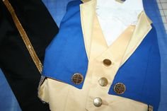 Beast Costume - 4 Piece Fully Lined Tuxedo Jacket, Vest, Shirt, Pants - Disney Inspired Prince Costume Beauty and the Beast 12 Months - 3T on Etsy, $168.00
