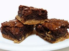 toffee bottom double chocolate chip brownies