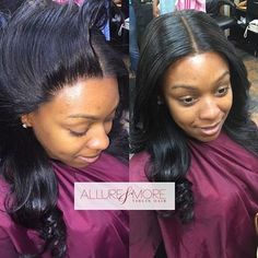 STYLIST FEATURE| This #lacefrontal installed by #CroftonMD stylist @AllureAndMore is FLAWLESS❤️ It looks so natural AMAZING #VoiceOfHair ======================== Go to VoiceOfHair.com =========================Find hairstyles and styling tips! =========================