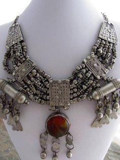 Antique Yemeni Silver Mashtata Necklace by ArabiaEmporium on Etsy, €450.00