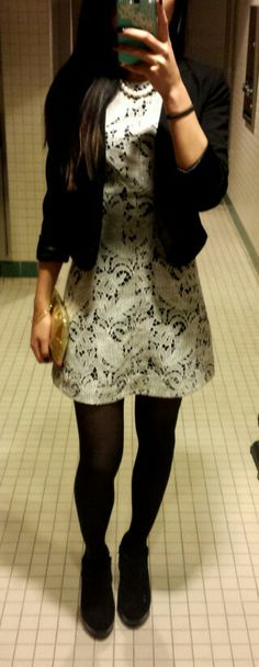 Business casual.  Lace dress