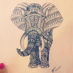 mandala elephant lámina - Buscar con Google