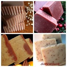 Fragranced homemade soaps