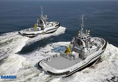Damen Shipyards Group has been contracted by the Defence Material Organisation of the Royal Netherlands Navy (RNLN) and by the Swedish Forsvarets Materielverk (FMV) for the delivery of five Harbour and Seagoing tugs.Damen's ASD Tug 2810 Hybrid design has been selected for the Royal Netherlands Navy and another fit-for-purpose design, the ice-classed ASD Tug 3010 ICE, for the FMV.