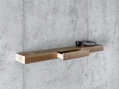Buy online Bàuti By fioroni, walnut wall shelf design Pasquini Tranfa architetti Hanging Tv On Wall, Wall Mounted Table, Contemporary Home Furniture, Furniture For Small Spaces, Shelf Furniture, Solid Wood Furniture, Floating Shelves Books, Hidden Rooms, Wall Shelves Design