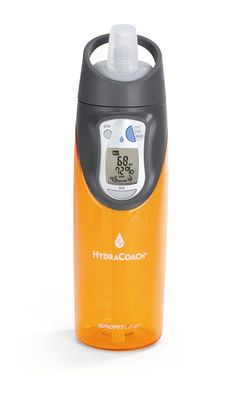 Hydracoach calculates the amount of water you need to drink each day based on your weight. As you drink, it lets you know how much is left for that day
