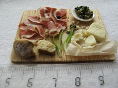 1:12 scale Spanish lunch board by GosiaMinis on Etsy