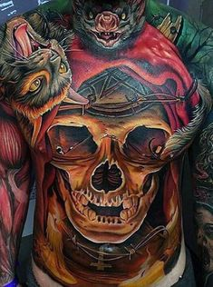 Soar high in the sky under the cover of darkness with these top bat tattoo designs for men. Discover masculine winged ink inspiration and ideas. Tattoo Designs Men, Tattoos For Guys, Tatoos, Death, Skull, Sketches, Tattoo Ideas, Design Ideas, Top