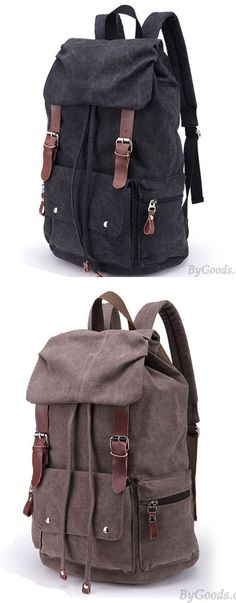 f623bbdc98 Retro Large Laptop Rucksack Travel School Bag Travel Bags Thick Canvas  Backpack for big sale !