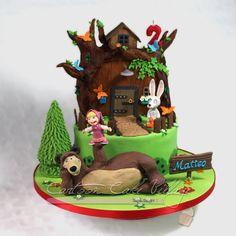 Masha and the Bear - Cake by Eliana Cardone - Cartoon Cake Village