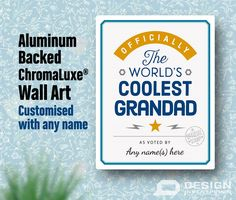Grandad Gift Cool Personalized Birthday For