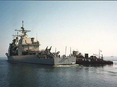 The Alton Simms assisting a Navy Destroyer to the dock at NAS Pensacola.