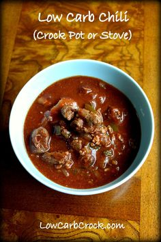 #LowCarb #CrockPot Chili con Carne Shared on https://www.facebook.com/LowCarbZen