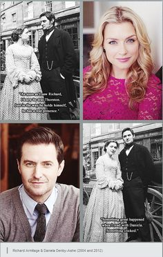 """""""As soon as I saw Richard, I knew he was Thornton. Just in the way he holds himself, he has a real presence"""" - Daniela Densby-Ashe. """"Something great happened when I read with Daniela. Something  clicked"""" - Richard Armitage."""
