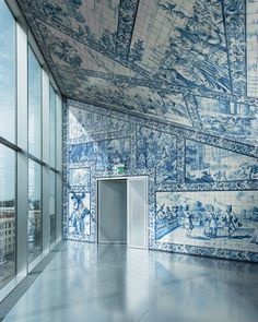 "Best Ideas For Architecture and Modern Design : – Picture : – Description ""La Casa da Musica"", Porto (Portugal) – by Dutch architect Rem Koolhaas – Photo by Vincent Leroux Rem Koolhaas, Architecture Design, Amazing Architecture, Classical Architecture, Vibe Studio, Art Et Design, Modern Design, Portuguese Tiles, Interior And Exterior"