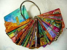 Altered Playing Card Deck by Mary Jane Chadbourne/Desert Dream Studios. I love altering playing cards! Art Journal Pages, Art Journals, Inspiration Artistique, Paper Art, Paper Crafts, Art Trading Cards, Art Journal Inspiration, Inspiration Cards, Daily Inspiration