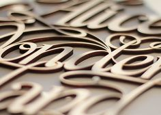 Wood Lettering & Design by Future Marquetry | Inspiration Grid | Design Inspiration