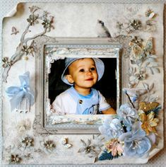 """""""Pure Love"""" - Scrapbook.com (created by Debbierybolt) Wendy Schultz onto Baby Layouts."""