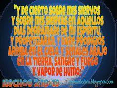 Compartamos la Palabra de Dios: Derramaré de mi Espíritu, y profetizarán. Y daré p...