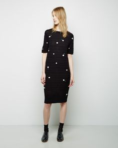 BAND OF OUTSIDERS | Pointelle Crewneck Dress With Rosettes