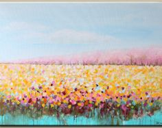 ORIGINAL abstract painting Abstract flowerabstract by artbyoak1