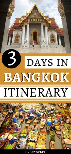 3 days in Bangkok? This Bangkok itinerary will guide you through what to see and the best things to do in Bangkok in 3 days. Bangkok Itinerary, Bangkok Travel, Asia Travel, Laos Travel, Beach Travel, 3 Days In Bangkok, Bangkok Thailand, Bangkok To Do, Bangkok Things To Do In