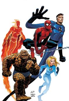 Spider-Man and the Fantastic Four by John Romita Jr.